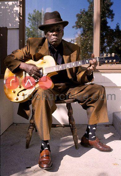 John Lee Hooker. Redwood City, California, 4th November 1985. by Steve Rapport