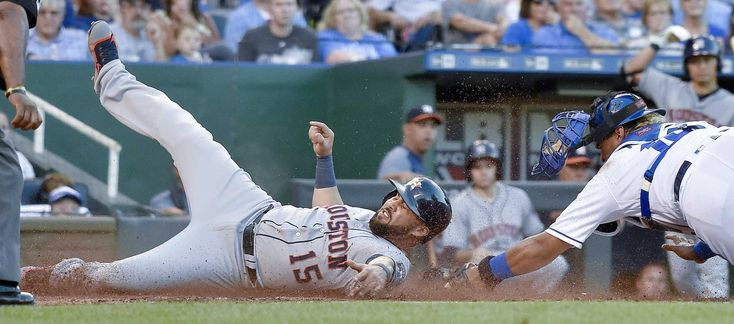 In the eighth inning of an 9-7 loss to the Kansas City Royals on Tuesday night at Kauffman Stadium, three Astros relievers combined to surrender four runs. After tying the game in the eighth, the Royals won it in the bottom of the ninth on a walk-off home run by Mike Moustakas against Ken Giles.