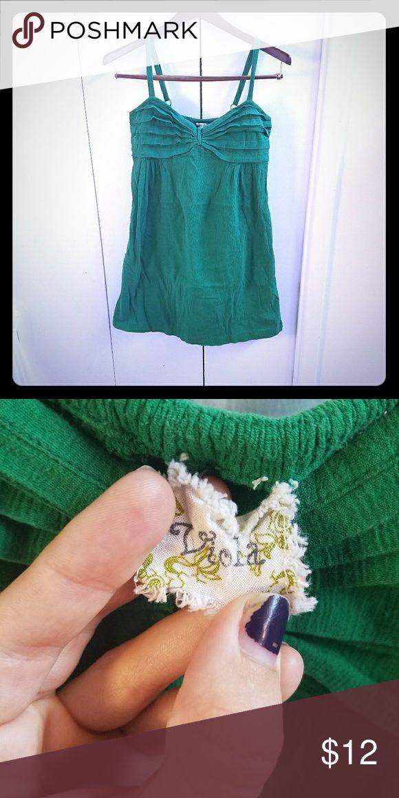 Green mini dress Cute green mini dress in a crepe cotton. A bit too short for my liking. viola Dresses Mini