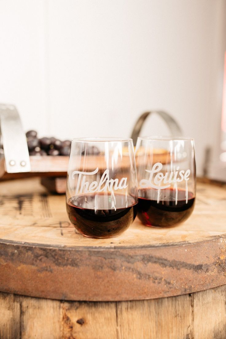 Thelma & Louise Engraved Wine Glass Set – Bourbon & Boots