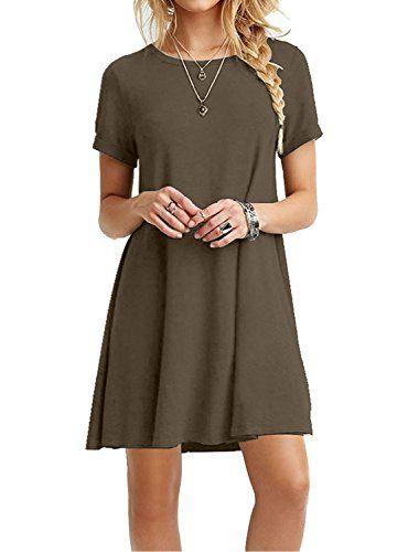 8fb5f2b2255cb MOLERANI Women's Casual Plain Short Sleeve Simple T-Shirt... https:/