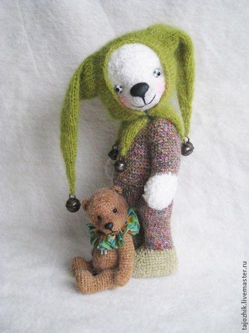 Купить Мишка Маас - мишка, медведь, авторская игрушка, авторский медведь, Вязание крючком
