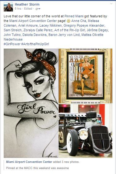 Found this on Facebook on the Miami Airport Convention fanpage from @pinupfestival  ! #artofthepinupgirl  #girlpower