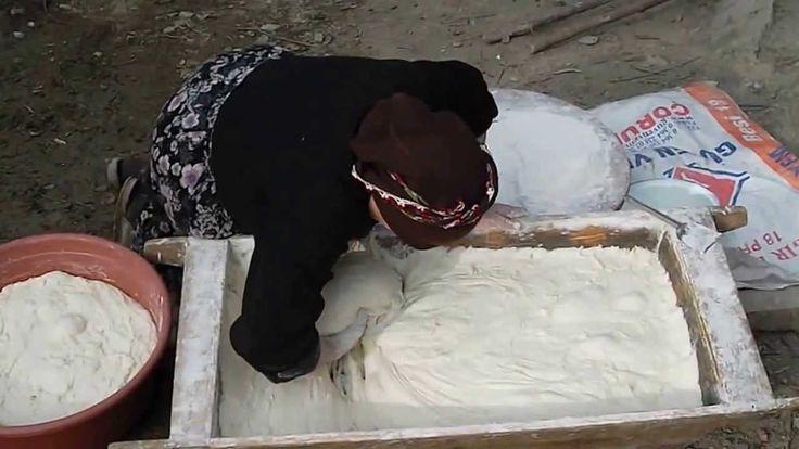 Kastamonu Yöresi Köy ekmeği yapılışı