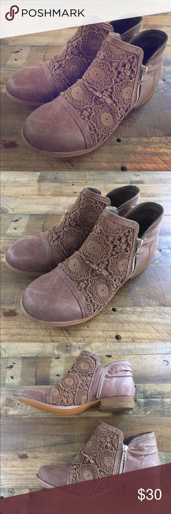 Not Rated Dark Brown Lace Ankle Boots Shoes 9 New with box Not Rated Shoes Ankle Boots & Booties