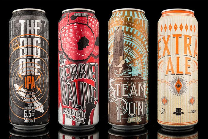 Hired Guns Creative was tasked to create four unique beer can designs for Longwood Brewery - each beer has its own branding, naming and design. Each one is as unique as the other.