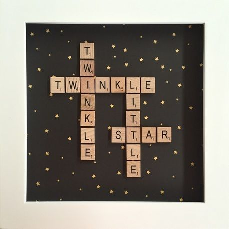 "Unique Personalised Scrabble Frame - small 9"" x 9"" (23cm x 23cm) by XOX WITH LOVE"