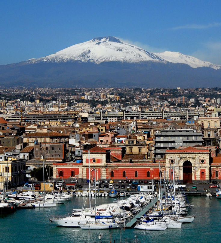 ~Catania and Mt. Etna, Sicily~  #italy  #catania  #sicily  #etna