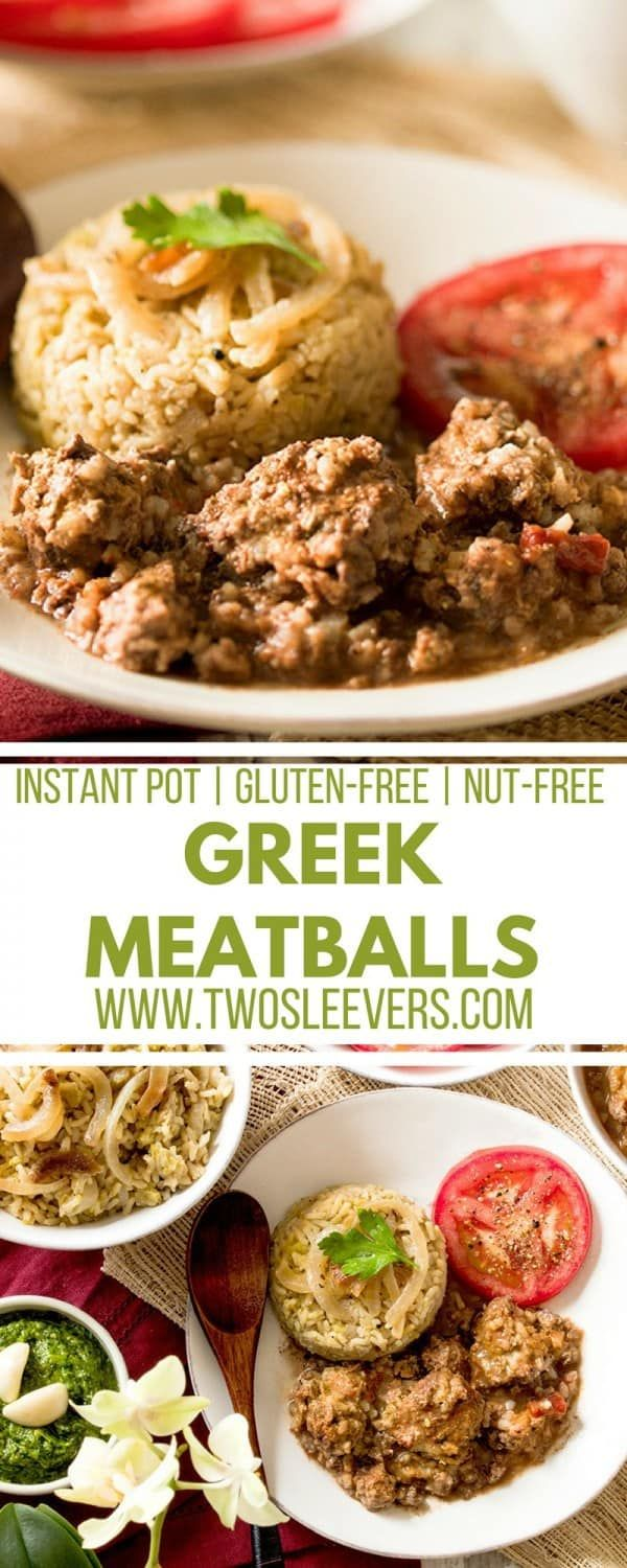 This recipe for Greek Meatballs and Tomato Sauce is perfect for the Instant Pot and will be loved by the whole family! via @twosleevers