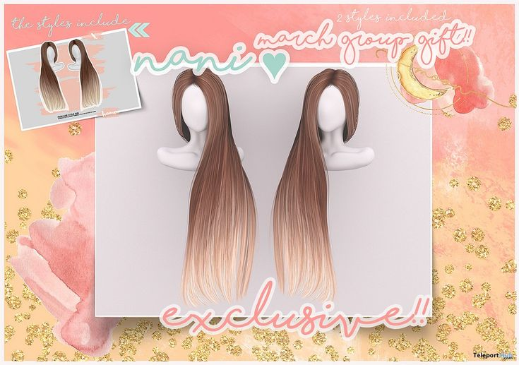 Nani Hair Fatpack March 2018 Group Gift by MOON