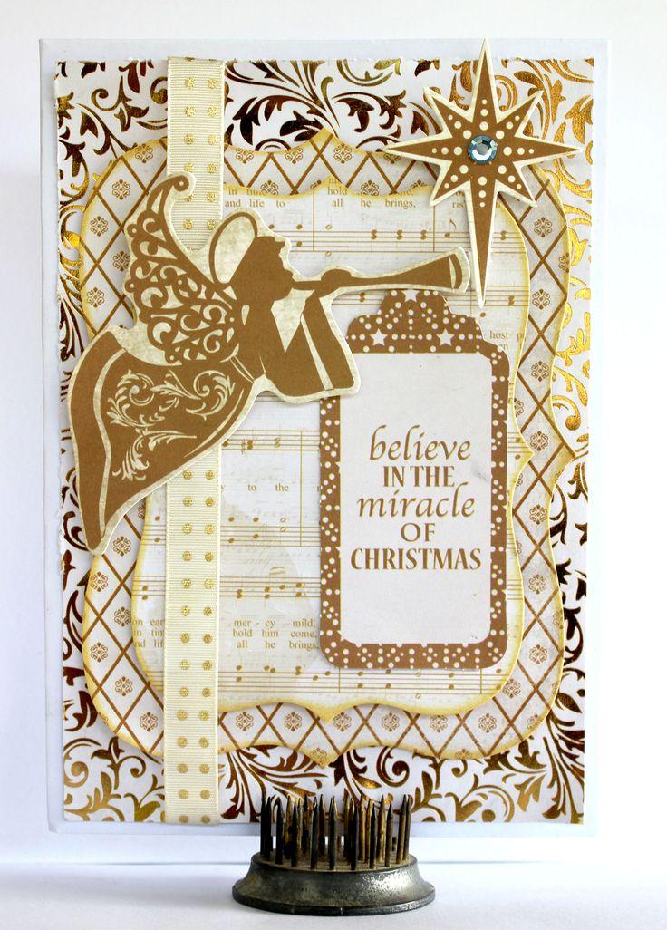 """Believe"" Christmas Card - Kaisercraft ""Holy Night"" - Scrapbook.com"