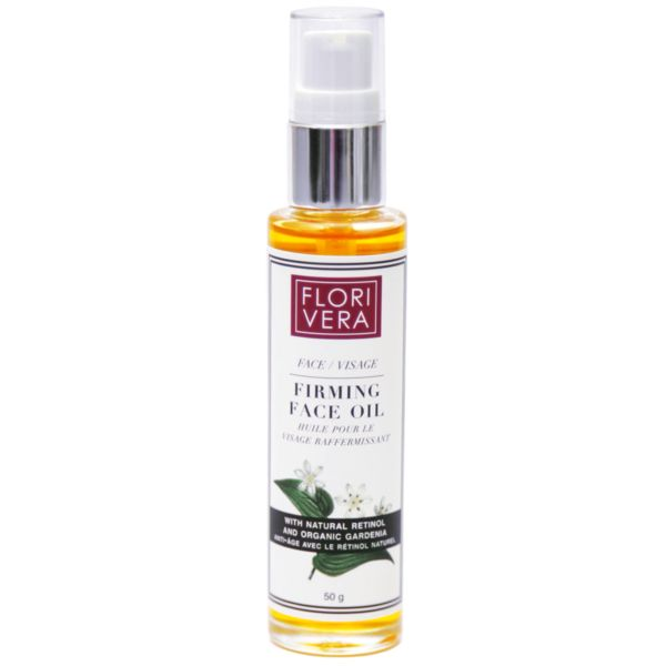 Florivera Face Oil with Cacay Oil is a luxurious hydrating treatment for sensitive and all skin types. This fast-absorbing dry oil is rich in natural antioxidants which protects skin from environmental assaults that trigger premature aging and skin damage. It is also infused with Amazonian Cacay Seed Oil, an ingredient containing optimal levels of natural retinol, which reduces wrinkles and regenerates the skin. Made in Canada. 50ml   www.florivera.com