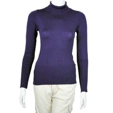 Amazon.co.jp: (ラヴィロッタ)LA Vilotta タートルネックセーター・パープル 9120901003PPL: 服&ファッション小物