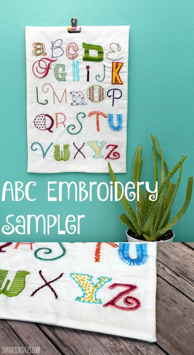 An ABC Alphabet Embroidery Sampler