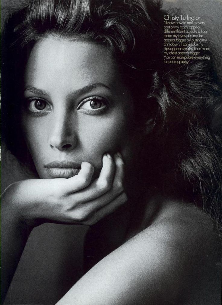"""""""Nobody's Perfect"""". Christy Turlington photographed by Irving Penn for US Vogue, September 1994"""