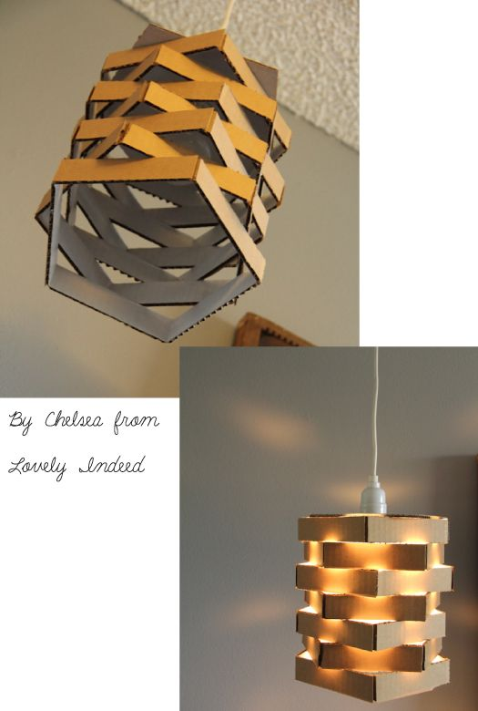 RE-FOREST YOUR IDEAS: from carboard box to pendant light | SENSE