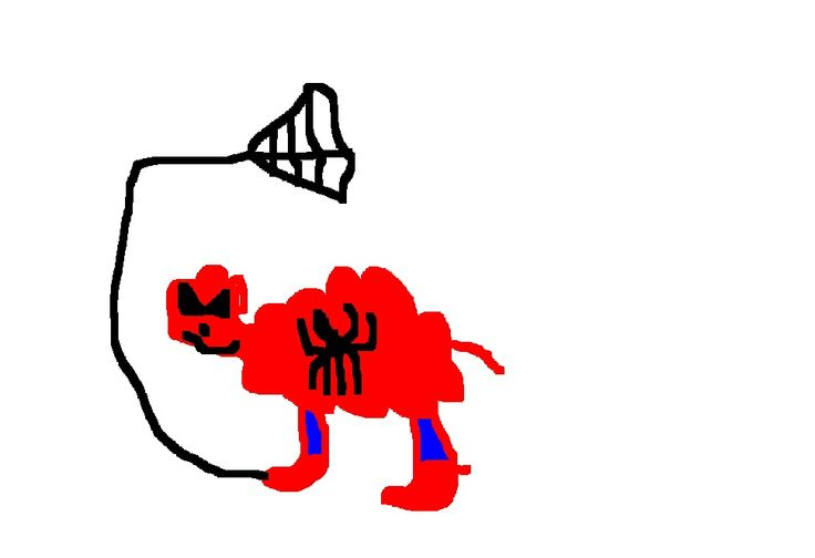 Here is a spiderman sheep. But where is the Green Sheep?