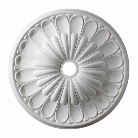 White Polyurethane Foam Medallion  Melon Reed 32-Inch Medallion In White
