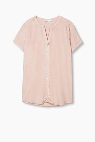 EDC / Fließende Bluse im Henley-Stil