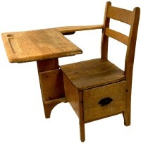 Wooden School Desk I Remember Sitting At One Of These You Had Room For Your Books Too
