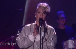 "nice Pink Performs ""What About Us"" On ""The Ellen DeGeneres Show"" (VIDEO)"