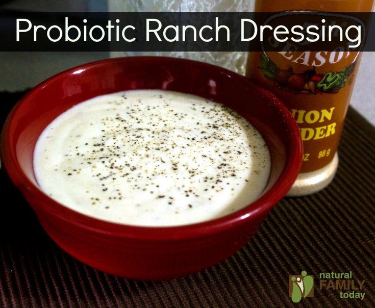 Probiotic Ranch Dressing - real food condiment recipes NaturalFamilyToday.com