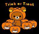 Gifs de Halloween gratis con Rilakkuma para enviar como ecard online.
