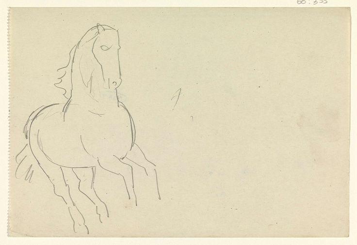 Leo Gestel | Schetsblad met studie van een paard, Leo Gestel, 1891 - 1941 |