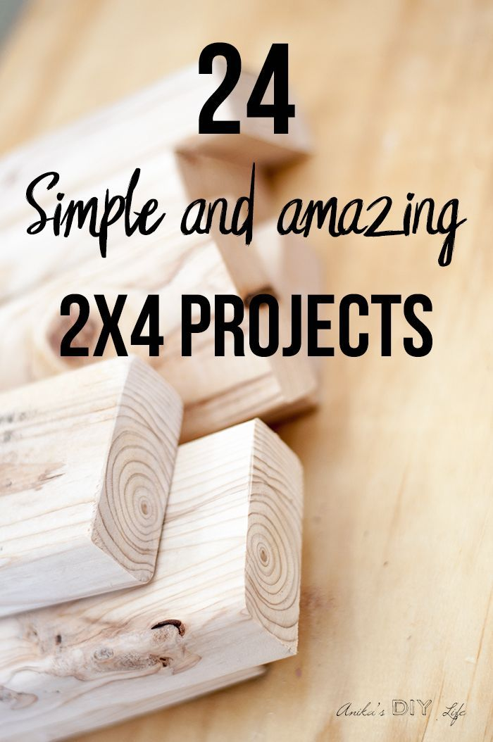 24 Simple and Amazing 2×4 Wood Projects