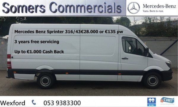 Mercedes-Benz Sprinter SprinterSpecial Offer on all new Sprinters Three years free servicing on all Mercedes Benz Sprinter models Up to €1,000 cash back for all customers Best price on the Web Standard on all our models 2.2 CDI OM651 Engine LA euro 62 Years Manufactures Warranty can be Extended6-gear ECO Gear 360 manual transmissionExterior Mirror Heated and Electric AdjustableElectric WindowsComfort Drivers Seat with Arm Rest (not standard on UK models)Remote Central Locking with…