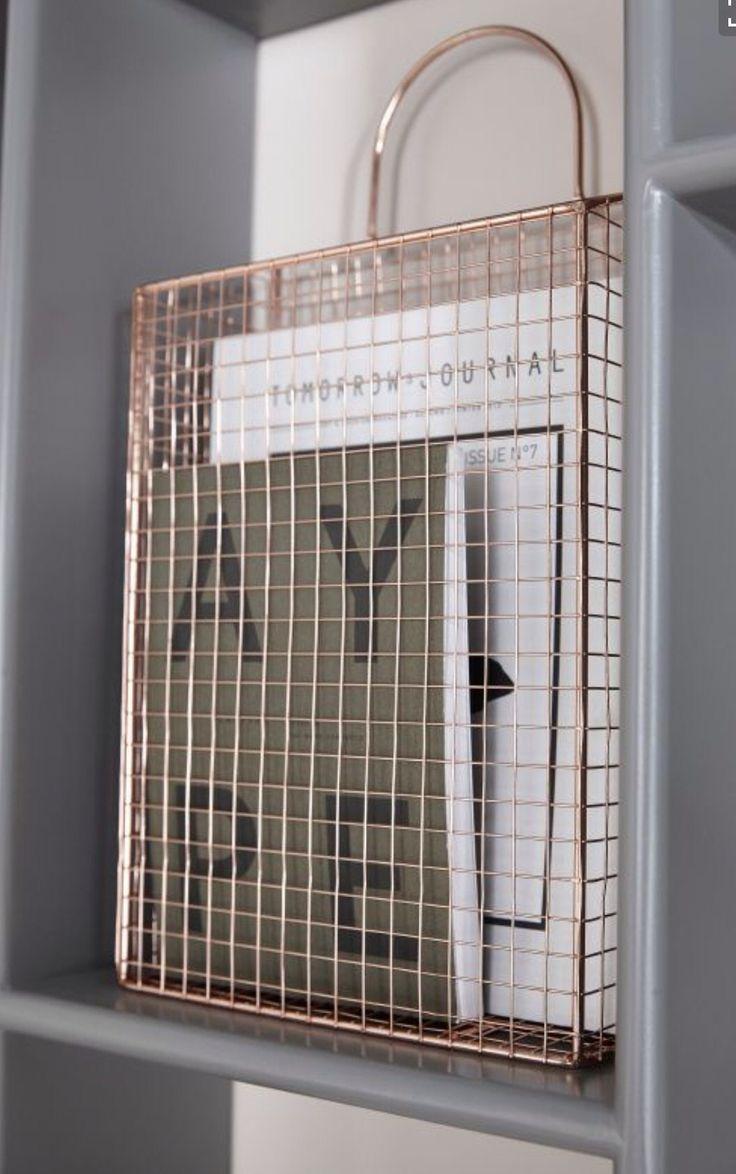 Copper magazine rack #meyerandmarsh #copper #magazinerack Copper | 銅 | Cobre | медь | Cuivre | Rame | Dō | Metal | Mettalic | Colour | Texture |