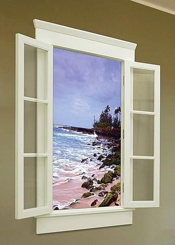 Faux LED Window Great For Basement Add Lights Recessed