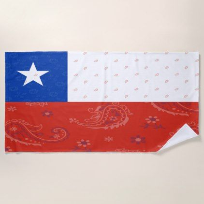 Chile Flag Beach Towel - trendy gifts cool gift ideas customize