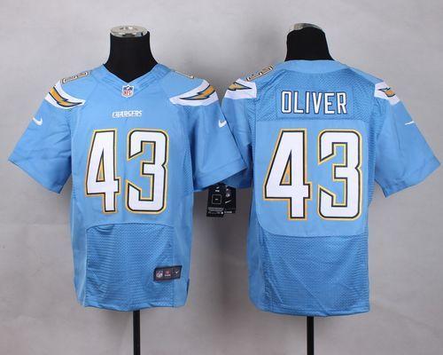 Men's NFL San Diego Chargers #43 Branden Oliver L.Blue Elite Jersey