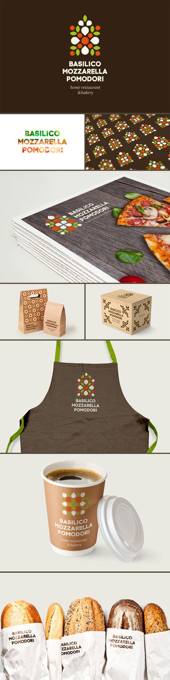 Basilico Mozzarella Pomodori Branding by Hattomonkey Studio