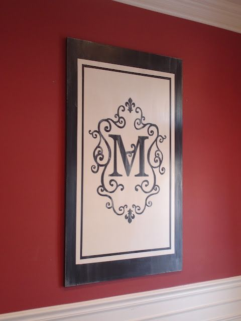 The Yellow Cape Cod: 31 Days of Character Building: Easy, Temporary, Custom Art - DIY make your own monogram art using mdf board and some paint - Looks GREAT!!! I want to do this!