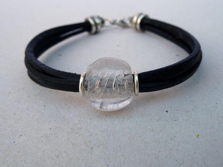 Handmade leather bracelet,men bracelet,black bracelet,unisex bracelet by accessoriesformen on Etsy