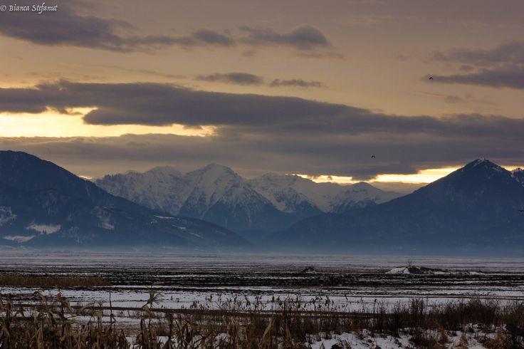 Carpathian Mountain sunset