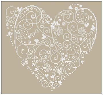 ♥ cross stitch heart