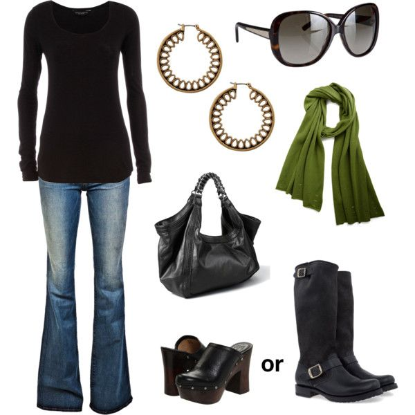 Oh goodness. So hotShoes, Fashion, Green Scarves, Closets, Clothing, Colors, Black Boots, Green Scarf, My Style