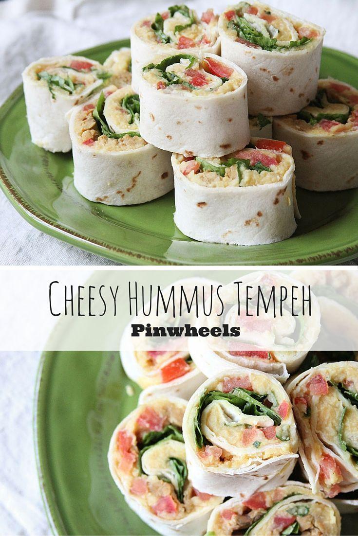 Cheesy Hummus and Tempeh Vegan Pinwheels.   Veganism ...