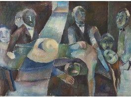 Ole Kandelin (1920-1947)*  Painajaisuni, öljy, sign. -39, näyttelyt: Amos Andersonin taidemuseo 1978, Emma 2008, 89x122