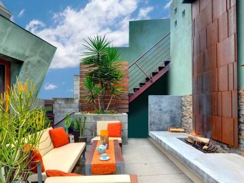 Eclectic Outdoor Terrace | Jeffrey Tohl | HGTV