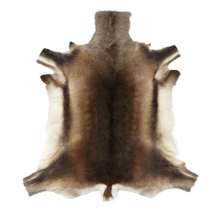 reindeer skin rug by hubsch made modern