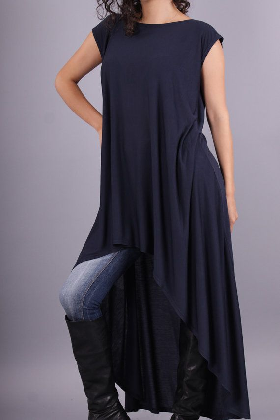 SISI Extravagant asymmetrical loose top tunic by Comfortissimo, $49.00