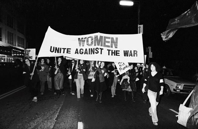 Women protest against the Vietnam War in Auckland, 1972