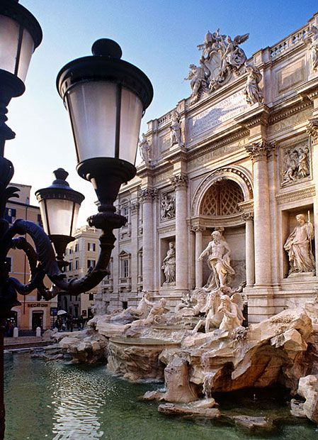 Trevi Fountain in Rome - by tossing a coin over your shoulder into this fountain, you ensure your return to this magnificent place - I definitely have a few coins in there . . .