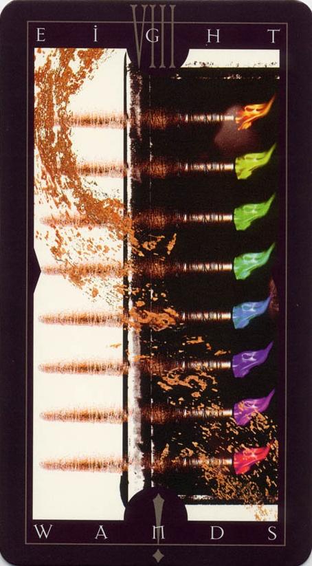 Vertigo Tarot: Eight of Wands