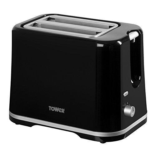 Tower T20009 2-Slice Toaster, 870 W - Black