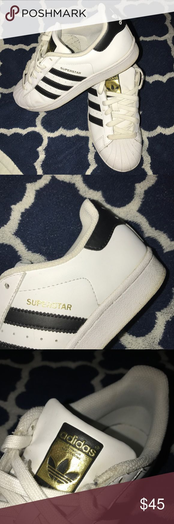 Adidas Superstar shoes Fairly worn; Adidas Superstar shoes, size 5 in women's. 👟 (Negotiable price)! Adidas Shoes Sneakers